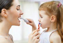 higiene dental en la noche