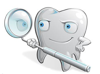 imagen de molar sosteniendo un espejo intraoral